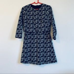 Topshop long sleeved layered dress size 8US